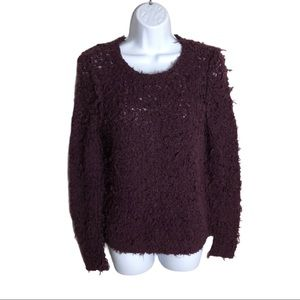 Free People Eggplant September Song Sweater Size M